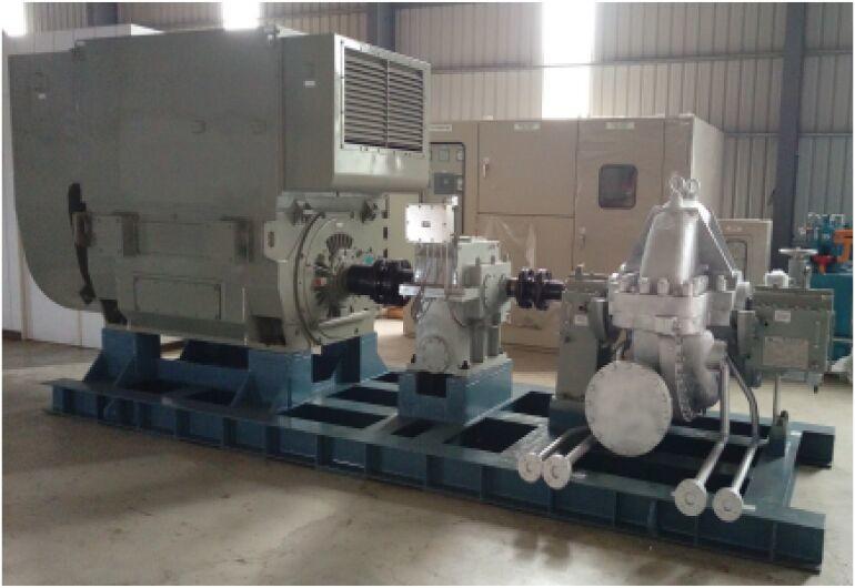 1100kW背壓式汽輪機(AC11.8kV電力)-台灣台中