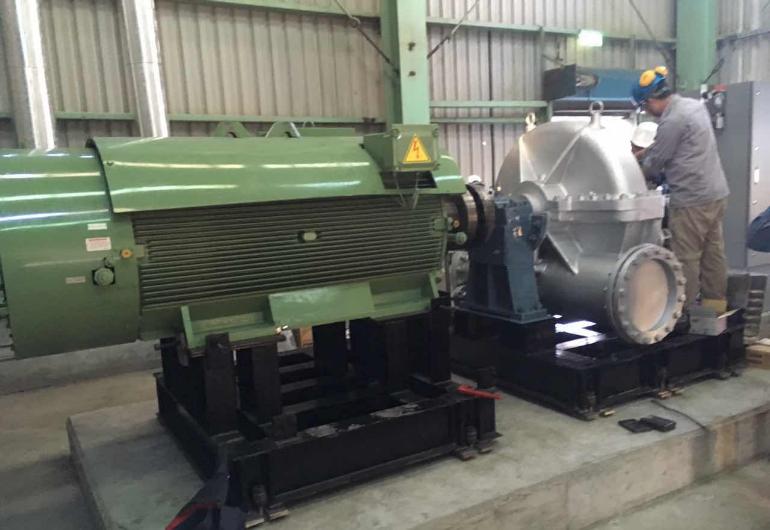 蒸汽餘壓回收汽輪機組 560kW-台灣高雄