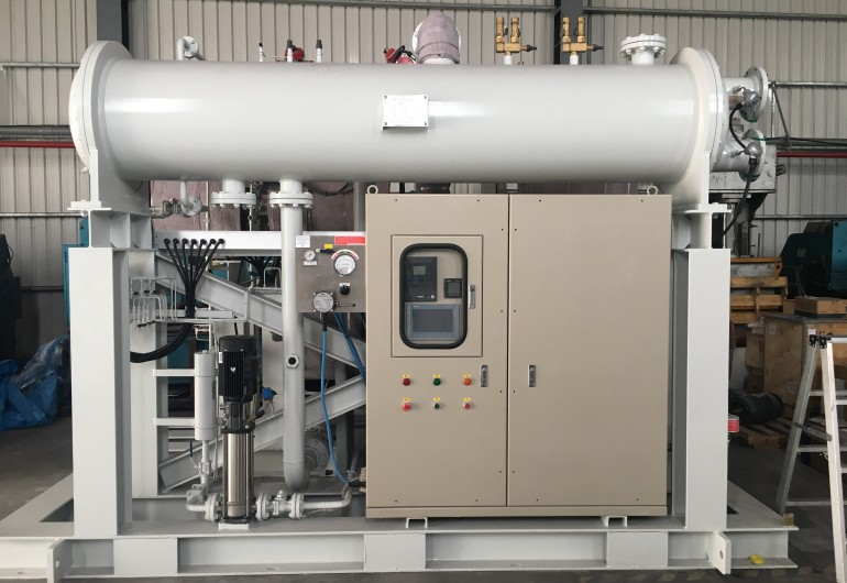 蒸汽餘熱回收機組110kW-台灣雲林麥寮