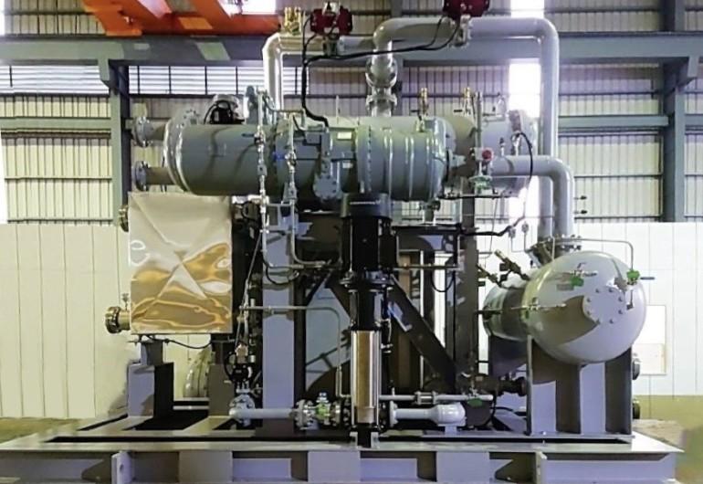 廢熱蒸氣回收發電   ORC機組 137kW 台灣台南
